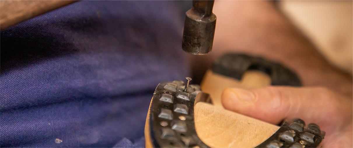 Fabrication de la galoche : semelle et talon